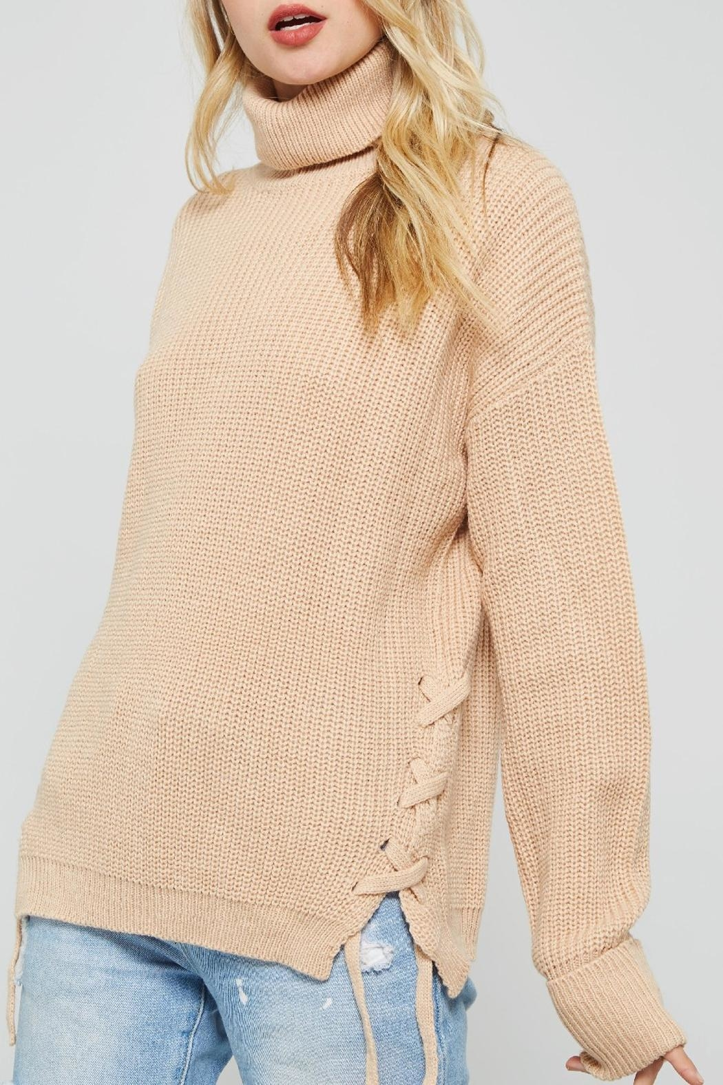 Promesa USA Beige Turtleneck Sweater from Louisville by BAZ and ...