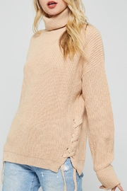 Promesa USA Beige Turtleneck Sweater - Product Mini Image