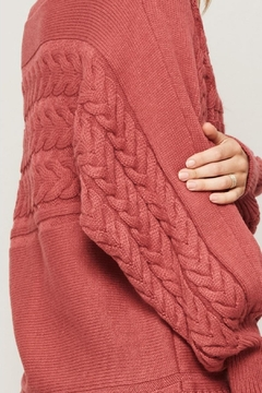 Promesa USA Cable-Knit Round-Neck Sweater - Alternate List Image