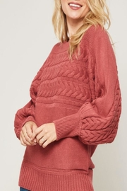Promesa USA Cable-Knit Round-Neck Sweater - Product Mini Image