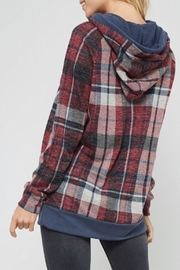 Promesa USA Casual Plaid Hoodie - Product Mini Image