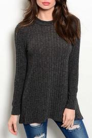 Promesa USA Charcoal Long Sleeve Top - Front cropped
