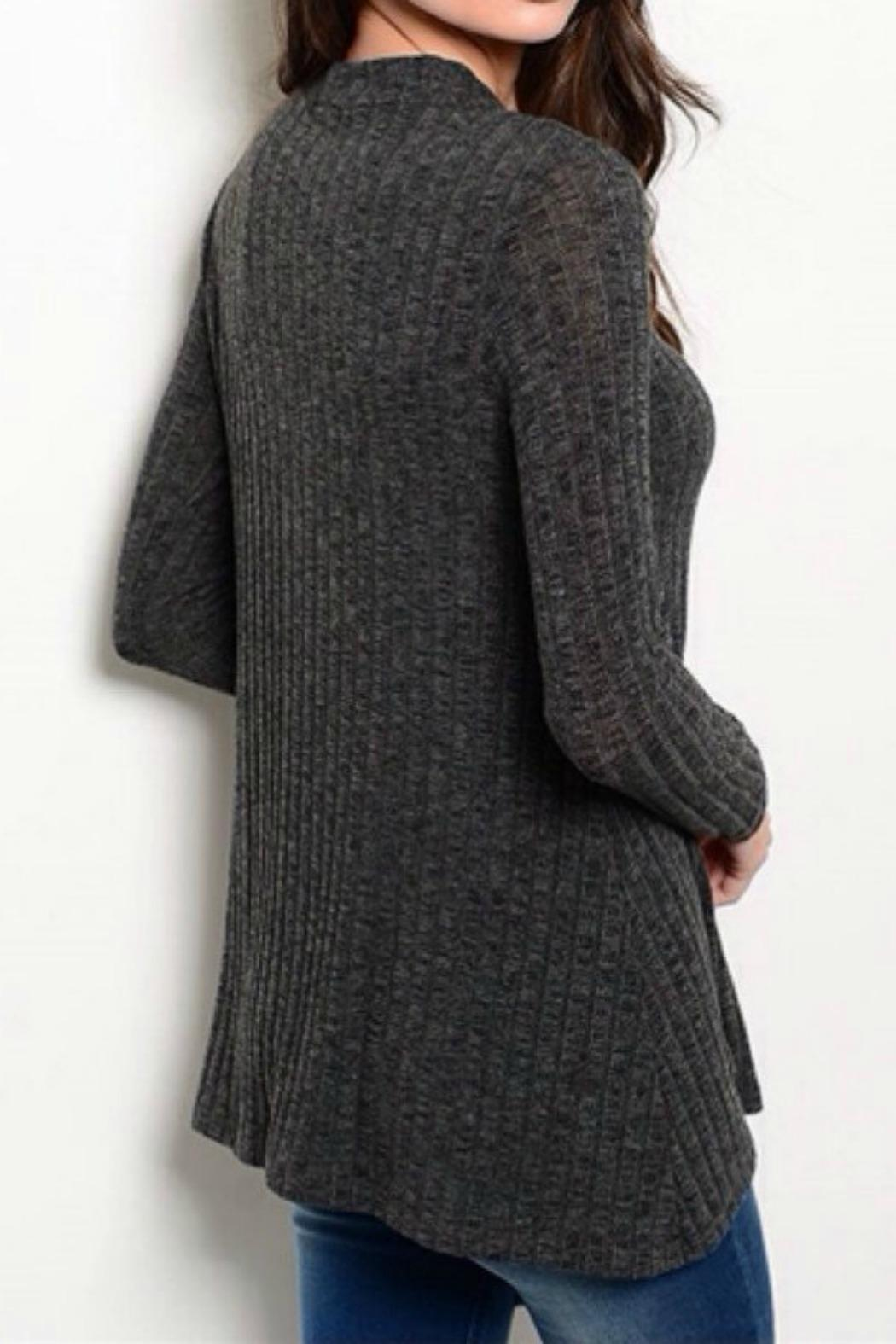 Promesa USA Charcoal Long Sleeve Top - Front Full Image