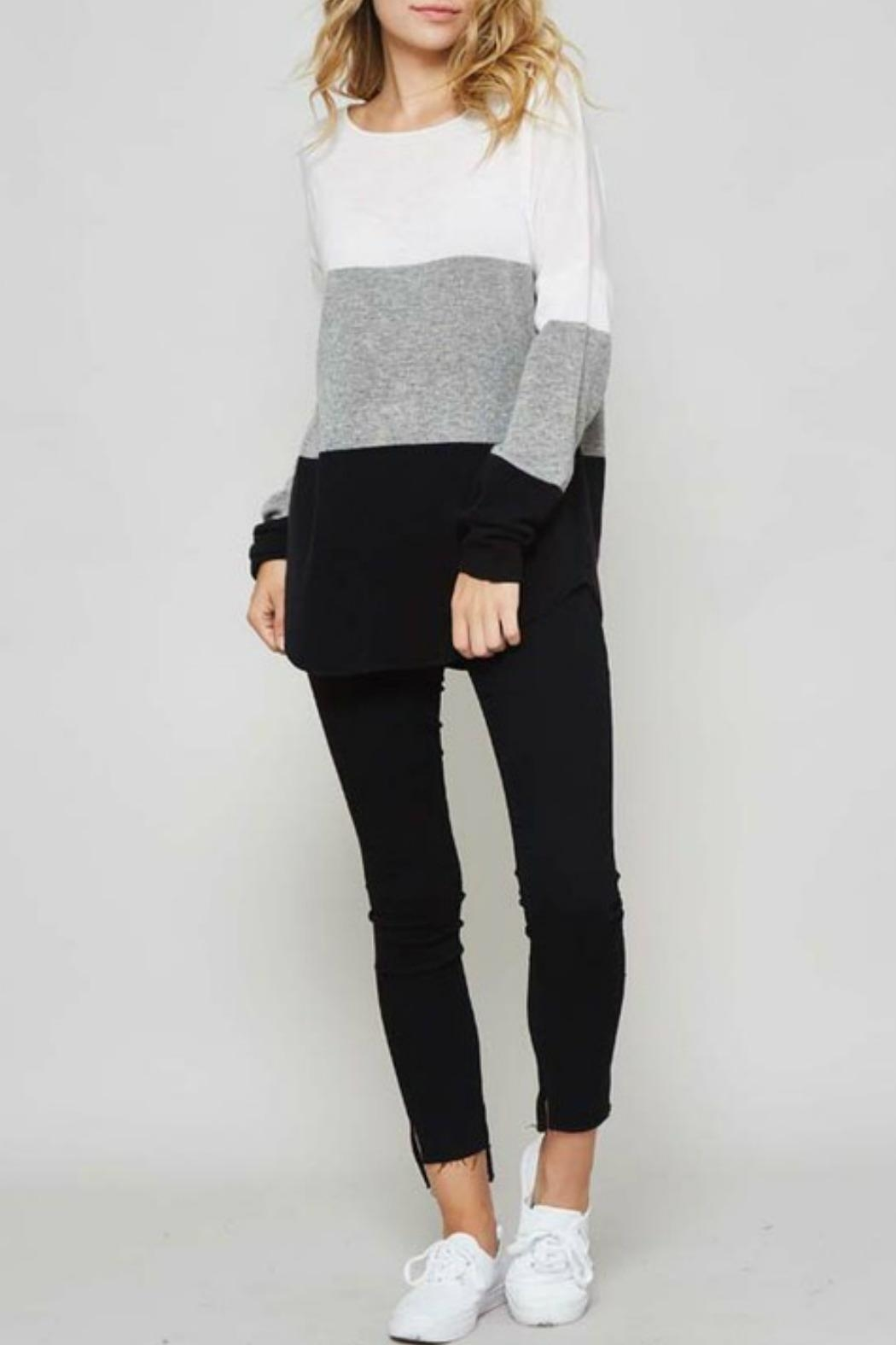 Promesa USA Colorblock Sweater - Front Cropped Image