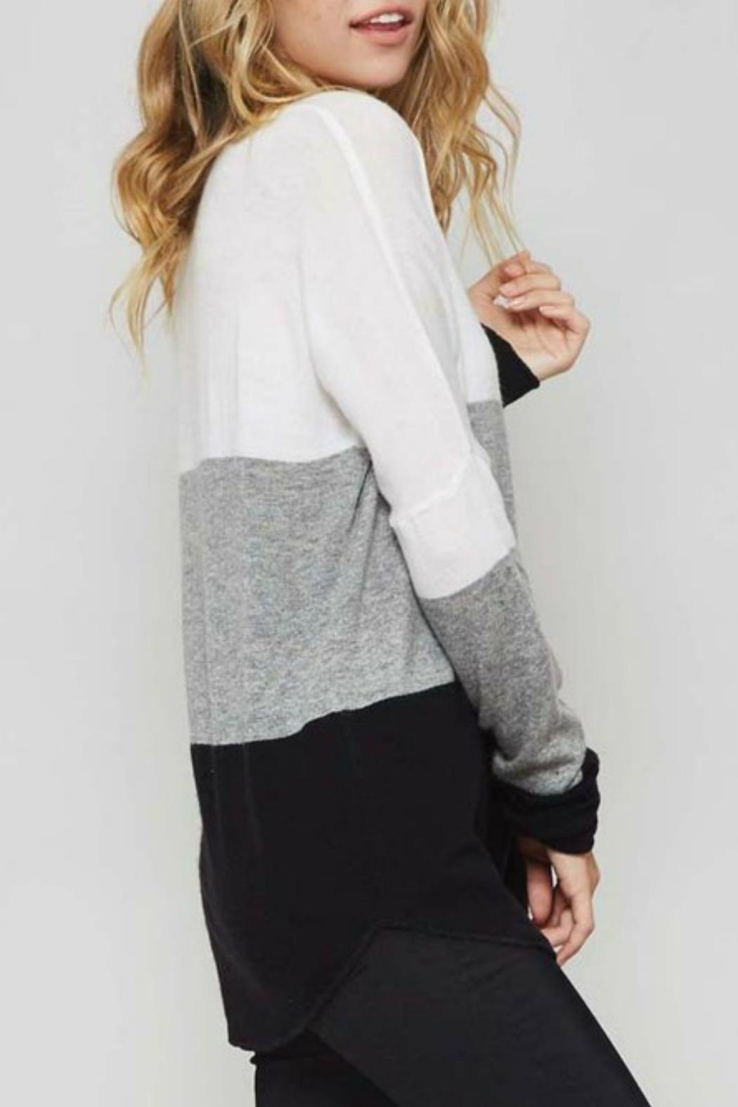 Promesa USA Colorblock Sweater - Side Cropped Image