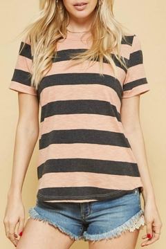 Shoptiques Product: Coral Striped Tee