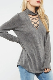 Promesa USA Criss-Cross Choker Top - Product Mini Image