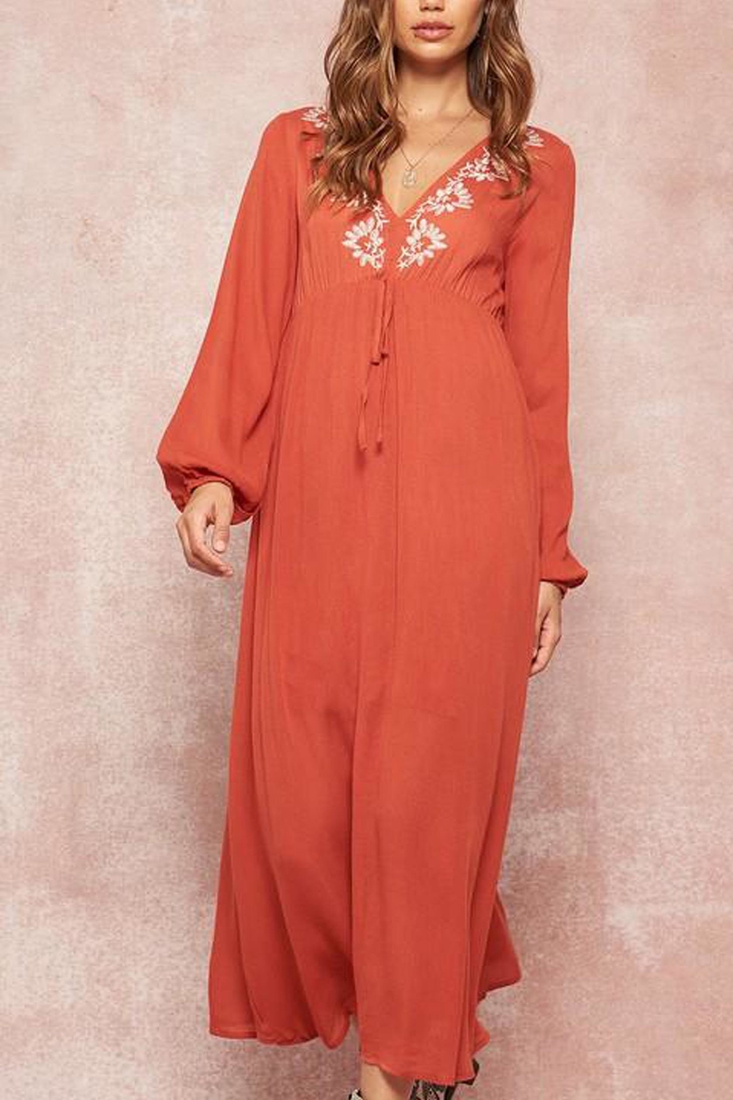 Promesa USA Embroidered Maxi Dress - Front Full Image