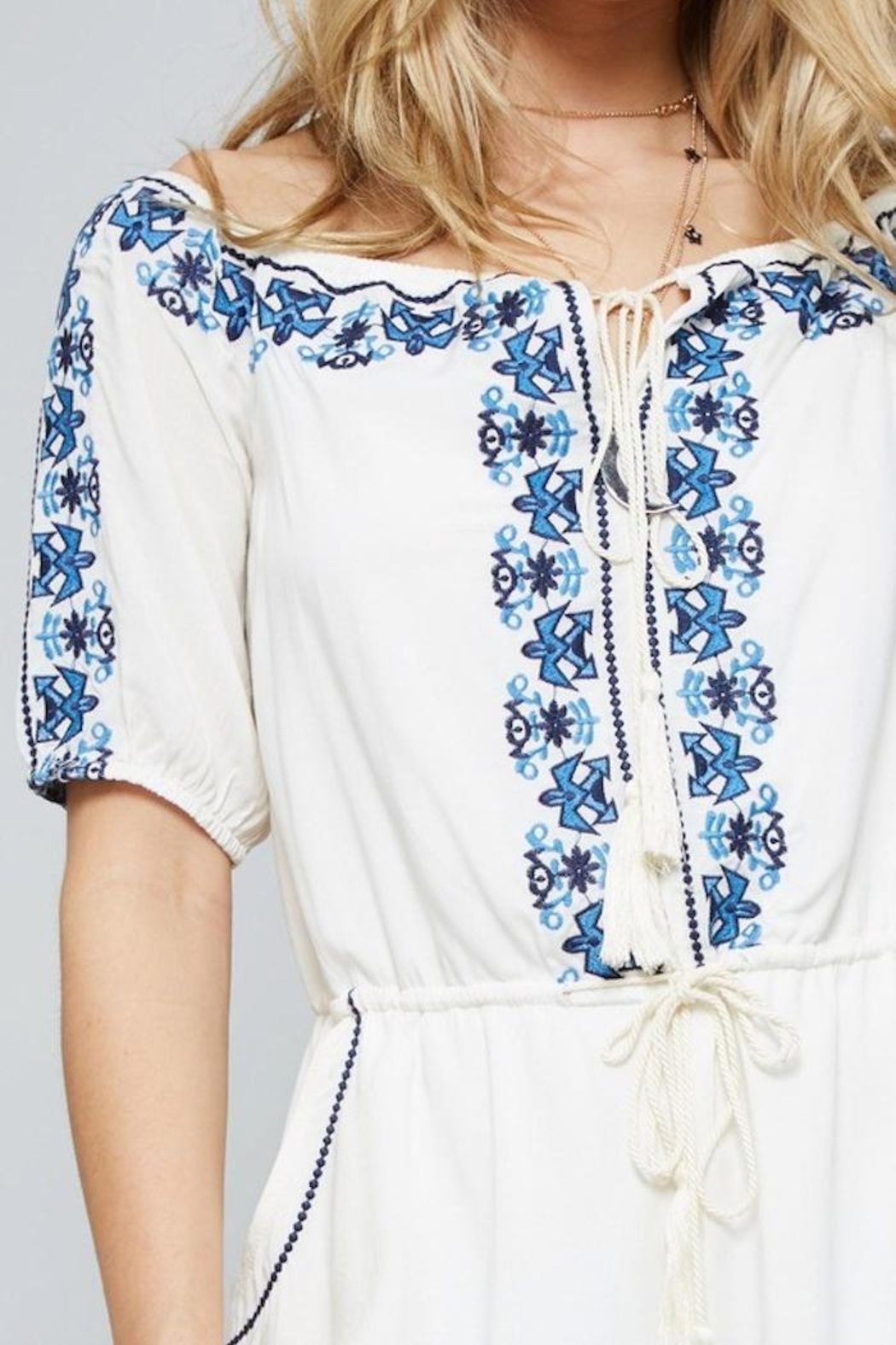 Promesa USA Embroidered Romper - Side Cropped Image
