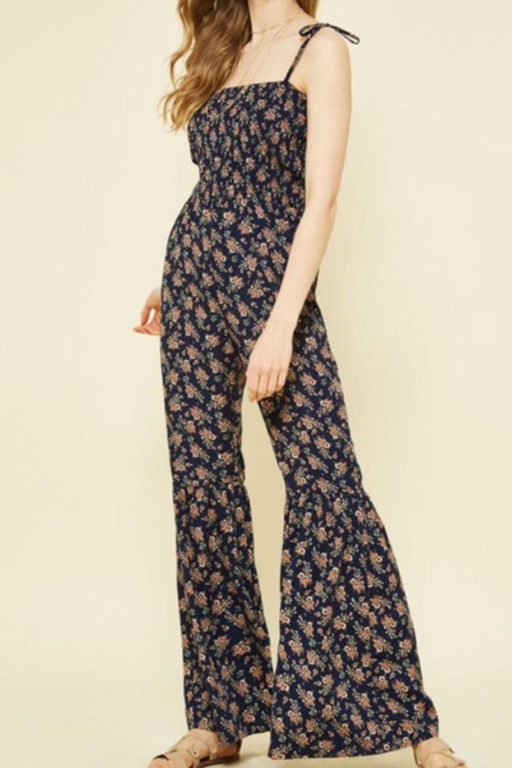 Promesa USA Floral Jumpsuit - Front Cropped Image