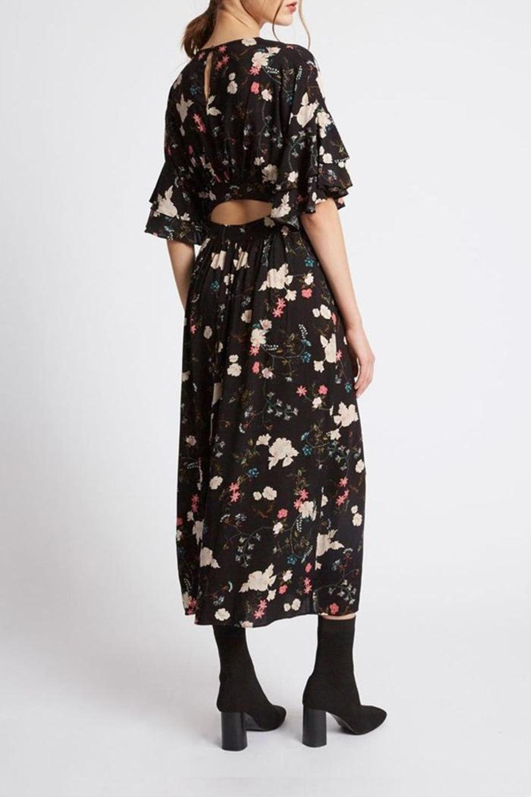 Promesa USA Floral Victorian Dress - Side Cropped Image
