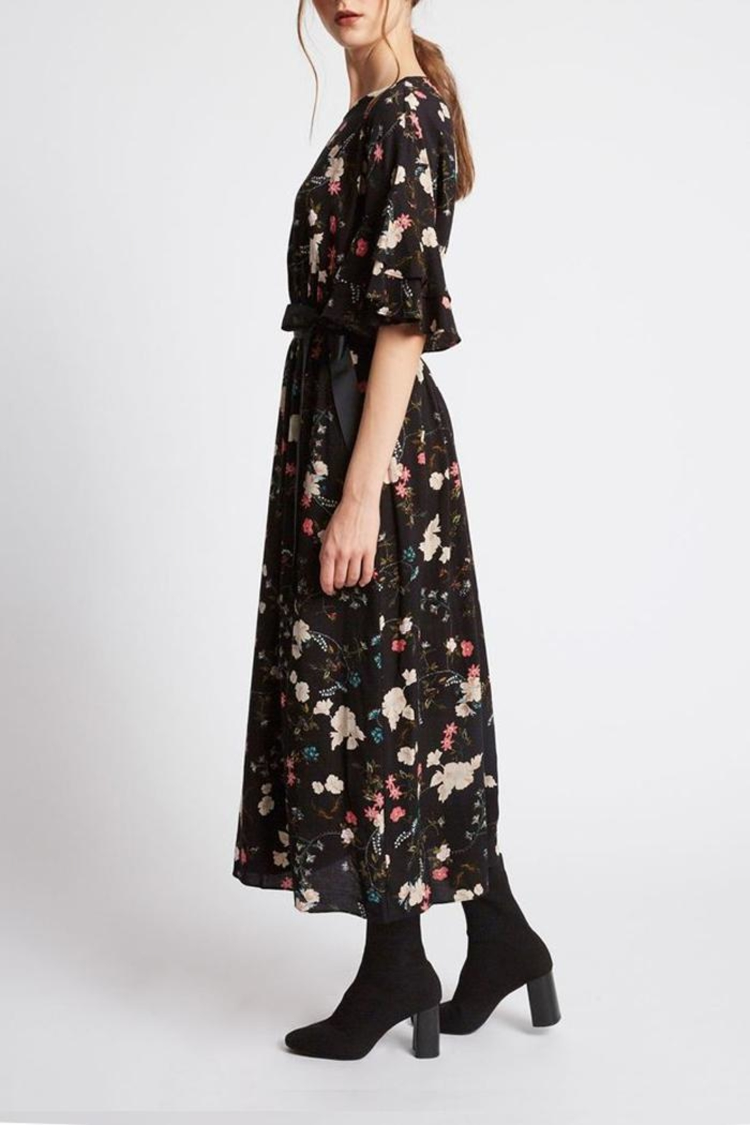 Promesa USA Floral Victorian Dress - Front Full Image