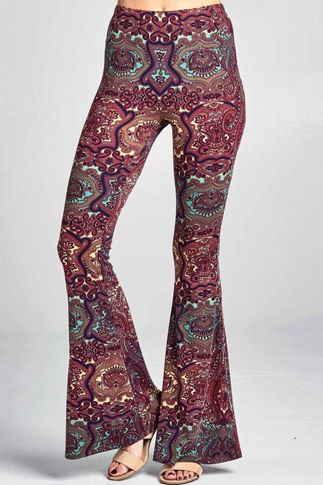 Promesa USA Indian-Print Bell Bottoms - Main Image