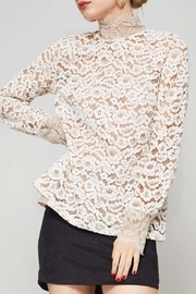 Promesa USA Lace Mock-Neck Top - Product Mini Image