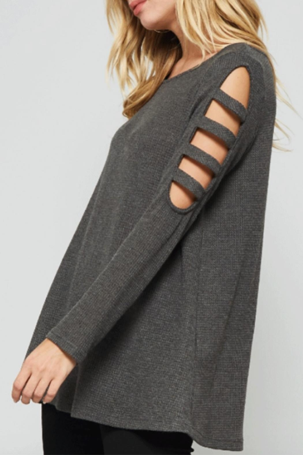 Promesa USA Ladder Sleeve Top - Front Full Image