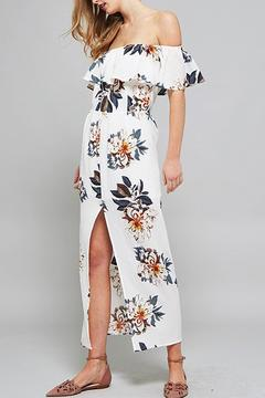 Shoptiques Product: Off Shoulder Floral Maxi