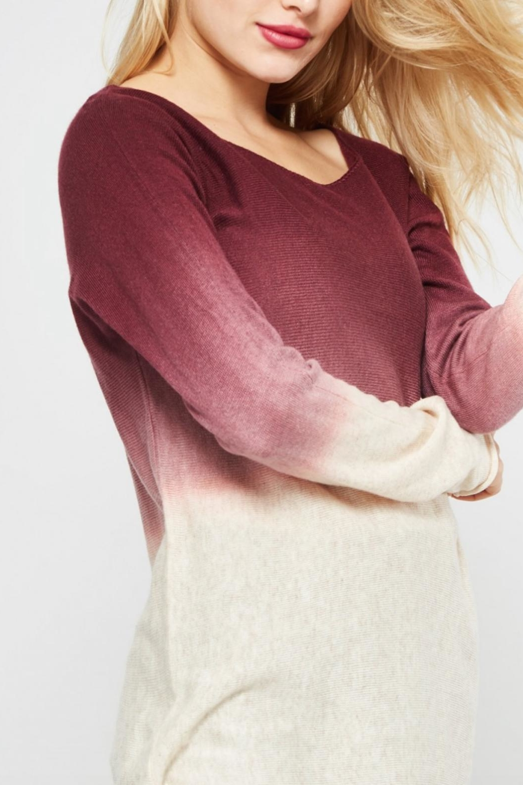 Promesa USA Ombre Sweater - Side Cropped Image