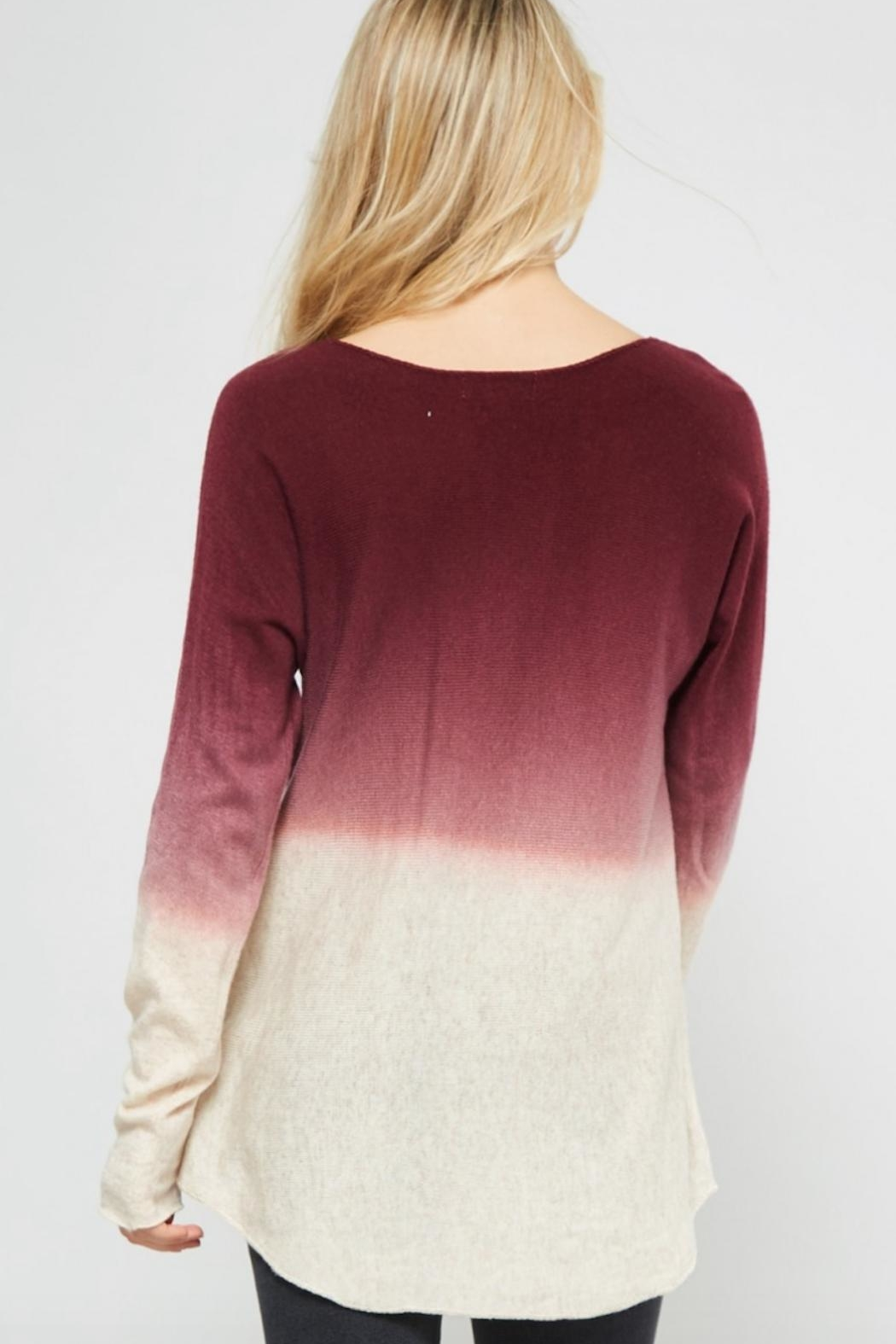 Promesa USA Ombre Sweater - Back Cropped Image