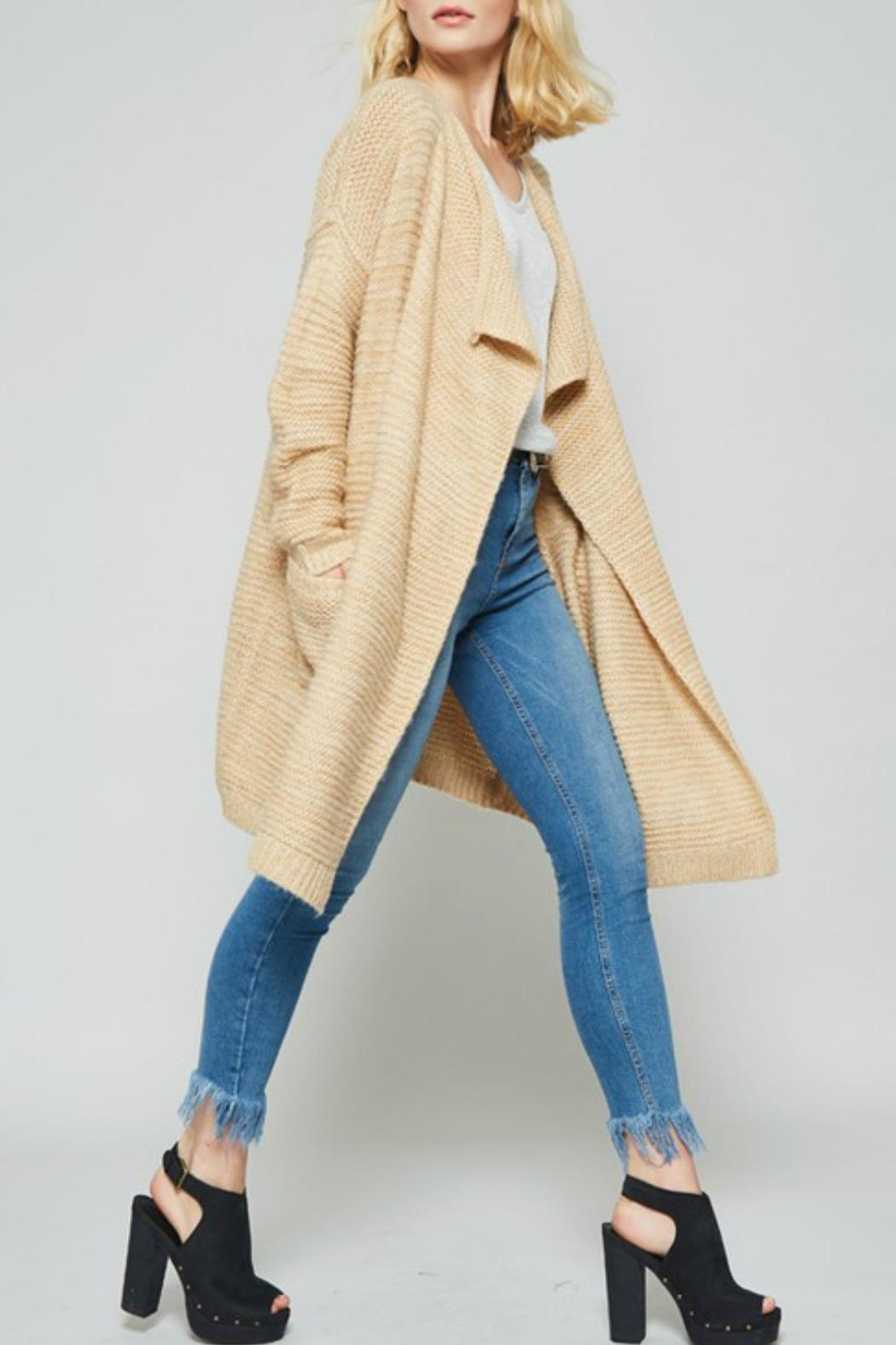 Promesa USA Open Front Cardigan - Front Cropped Image