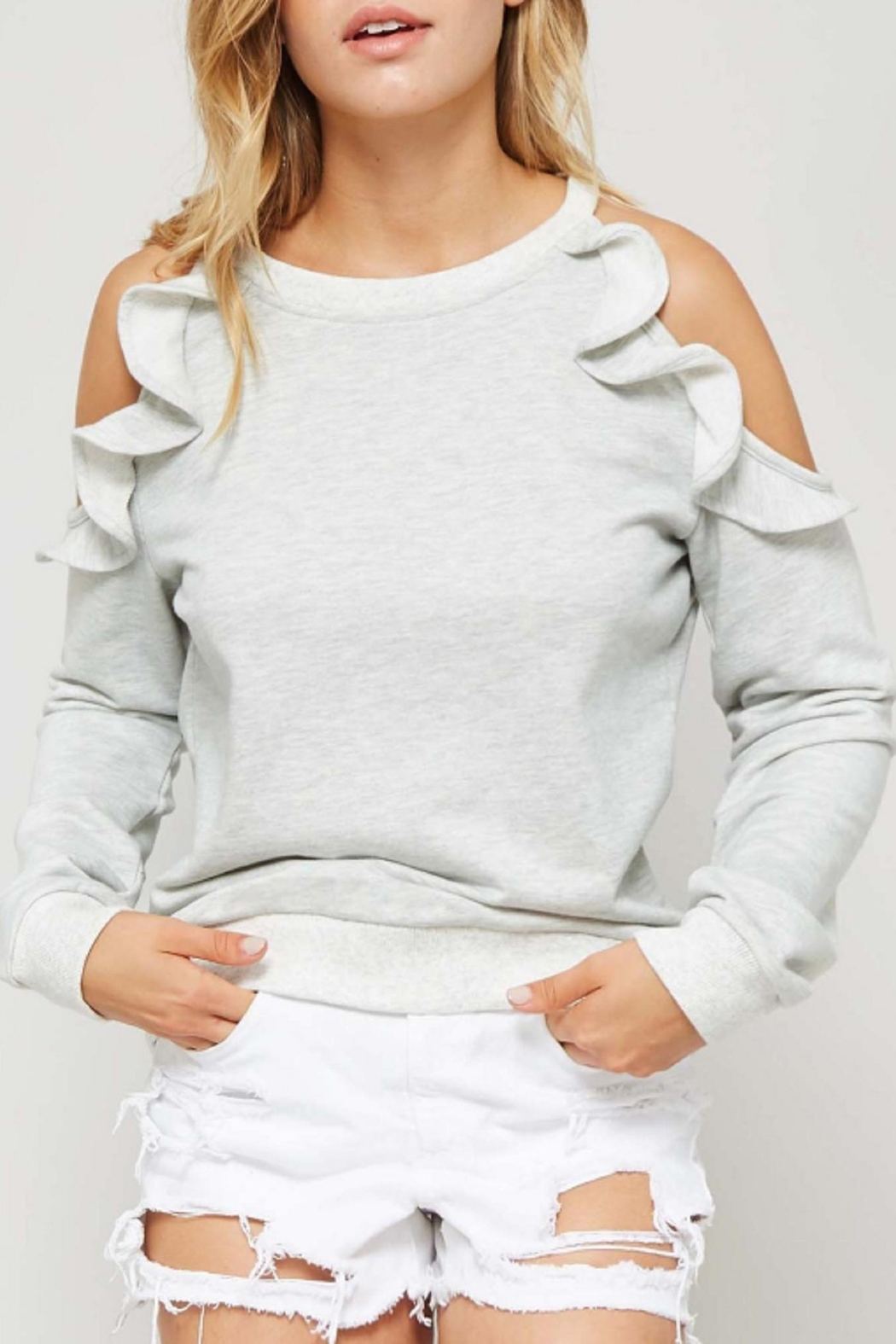 Promesa USA Open Shoulder Sweatshirt - Front Cropped Image