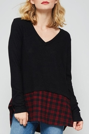 Promesa USA Peaking Plaid Sweater - Product Mini Image