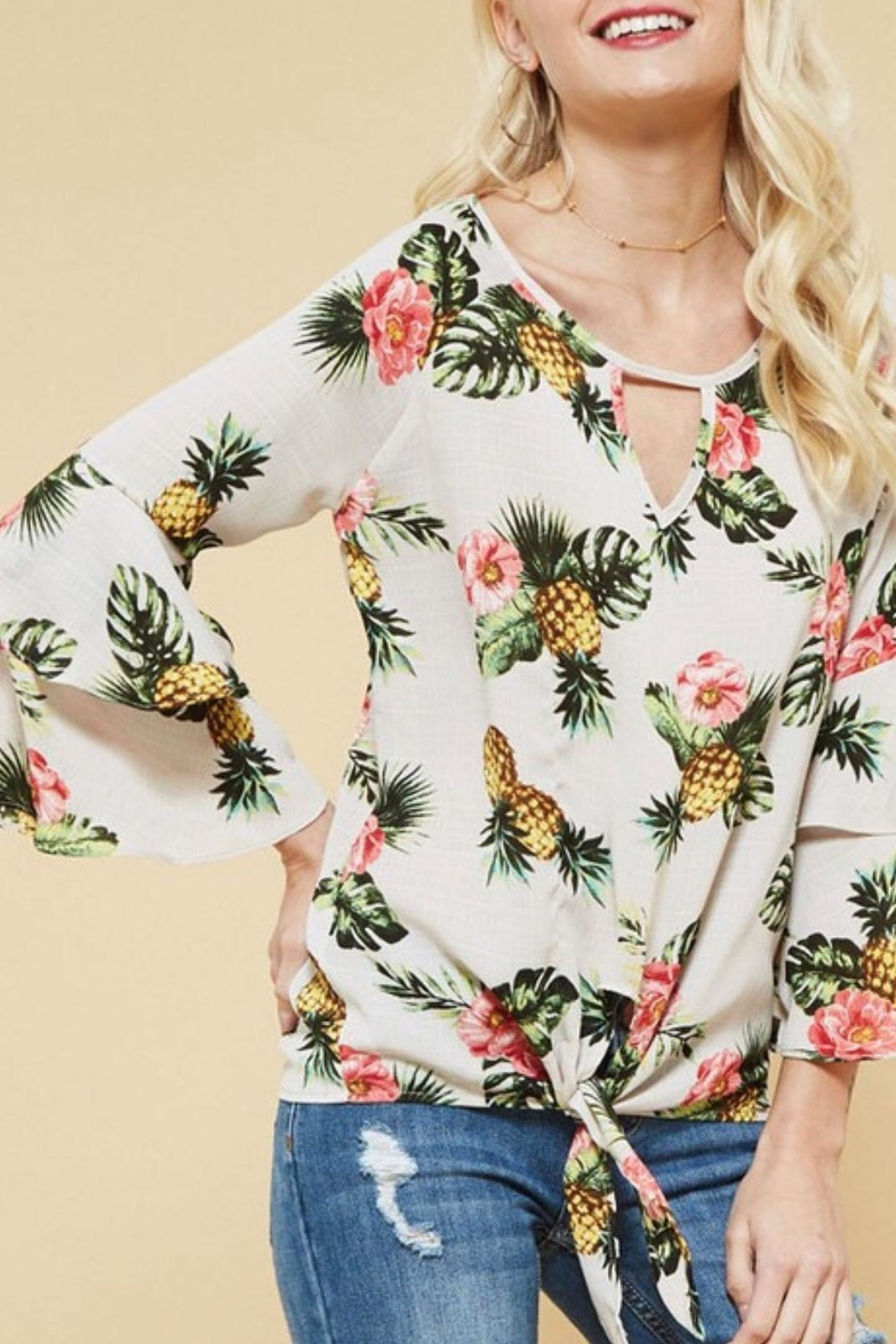 Promesa USA Pineapple Woven Top - Front Cropped Image