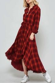 Promesa USA Plaid Shirt Dress - Product Mini Image