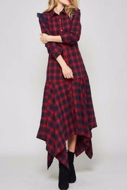 Promesa USA Plaid Shirt Dress - Front cropped