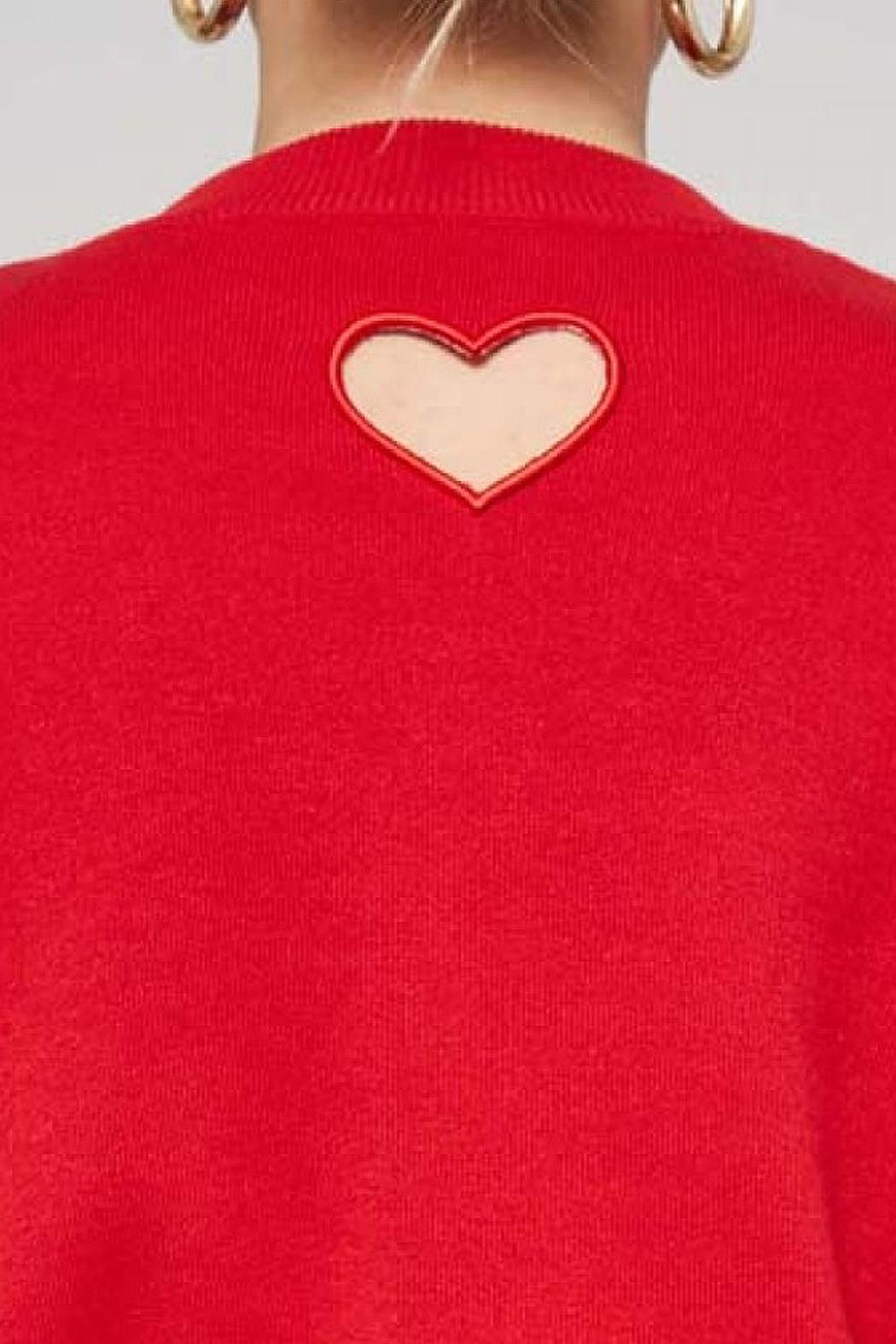 Promesa USA Red Heart Sweater - Side Cropped Image
