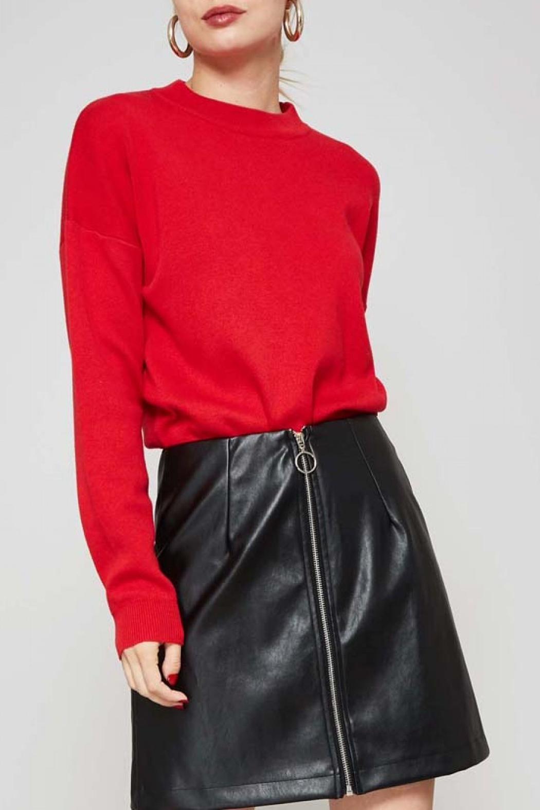 Promesa USA Red Heart Sweater - Back Cropped Image