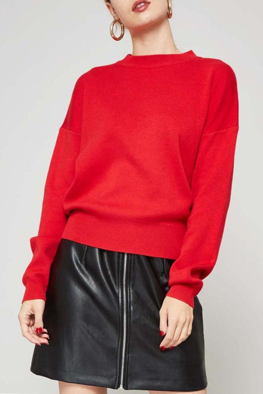 Promesa USA Red Heart Sweater - Front Full Image