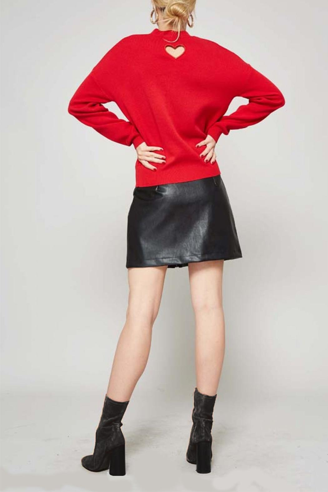 Promesa USA Red Heart Sweater - Front Cropped Image