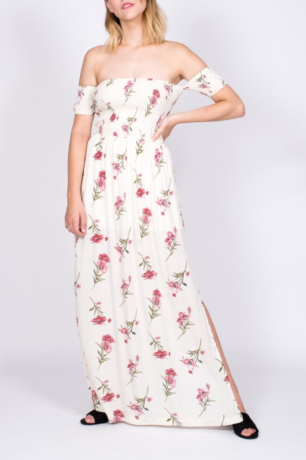 Promesa USA Smocked Floral Maxi - Front Cropped Image