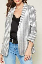 Promesa USA Striped Chambray Blazer - Product Mini Image
