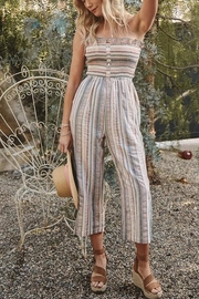 Promesa USA Striped Strapless Jumpsuit - Front cropped