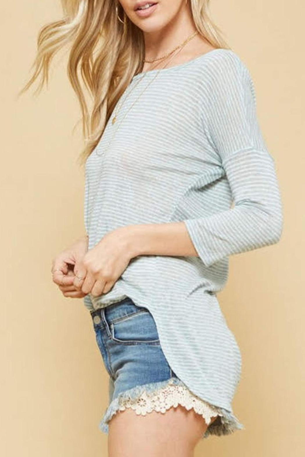 Promesa USA Striped Lightweight Top - Front Full Image