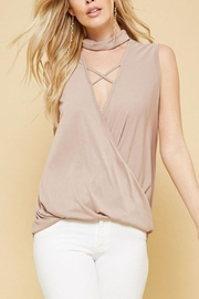 Promesa USA Surplice Cupro Top - Front cropped