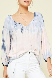 Promesa USA Tie-Dye Peach Blouse - Product Mini Image