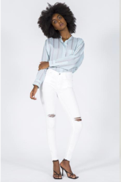 Black Orchid Denim Promises White Ripped Jeans by Black Orchid - Alternate List Image