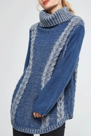 promosa Turtleneck Cableknit Sweater - Front cropped