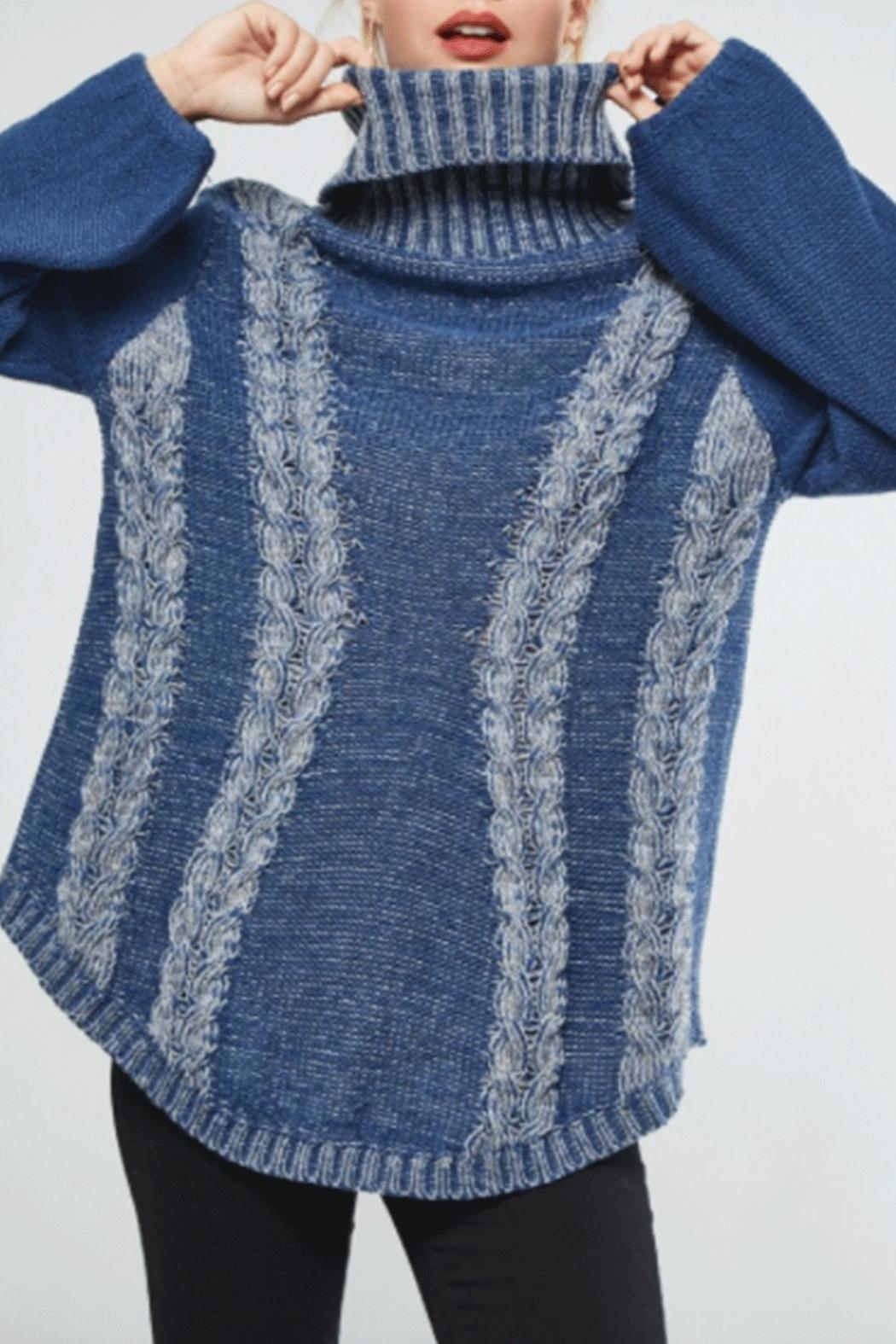 promosa Turtleneck Cableknit Sweater - Front Full Image