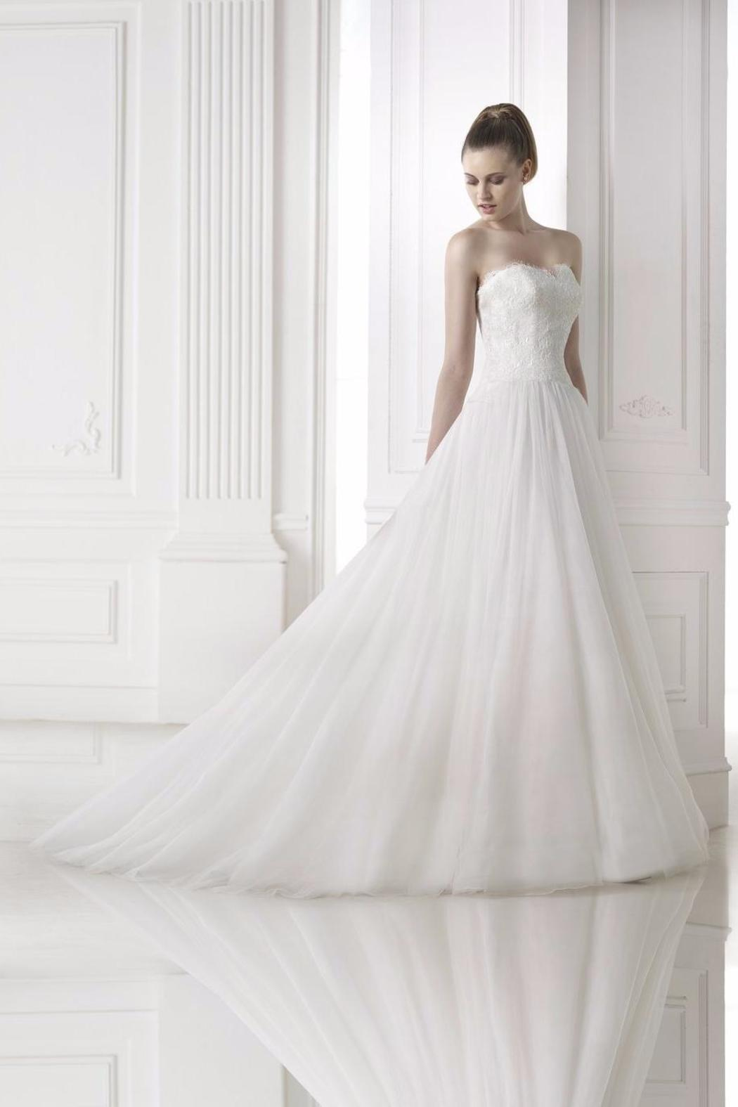 Pronovias Aline Lace Gown - Main Image