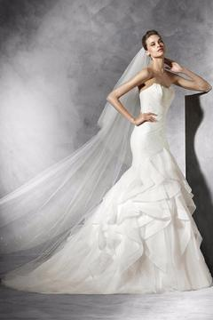 Pronovias Feather Bodice Gown - Product List Image