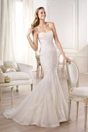 Pronovias Lace Mermaid Gown - Product Mini Image