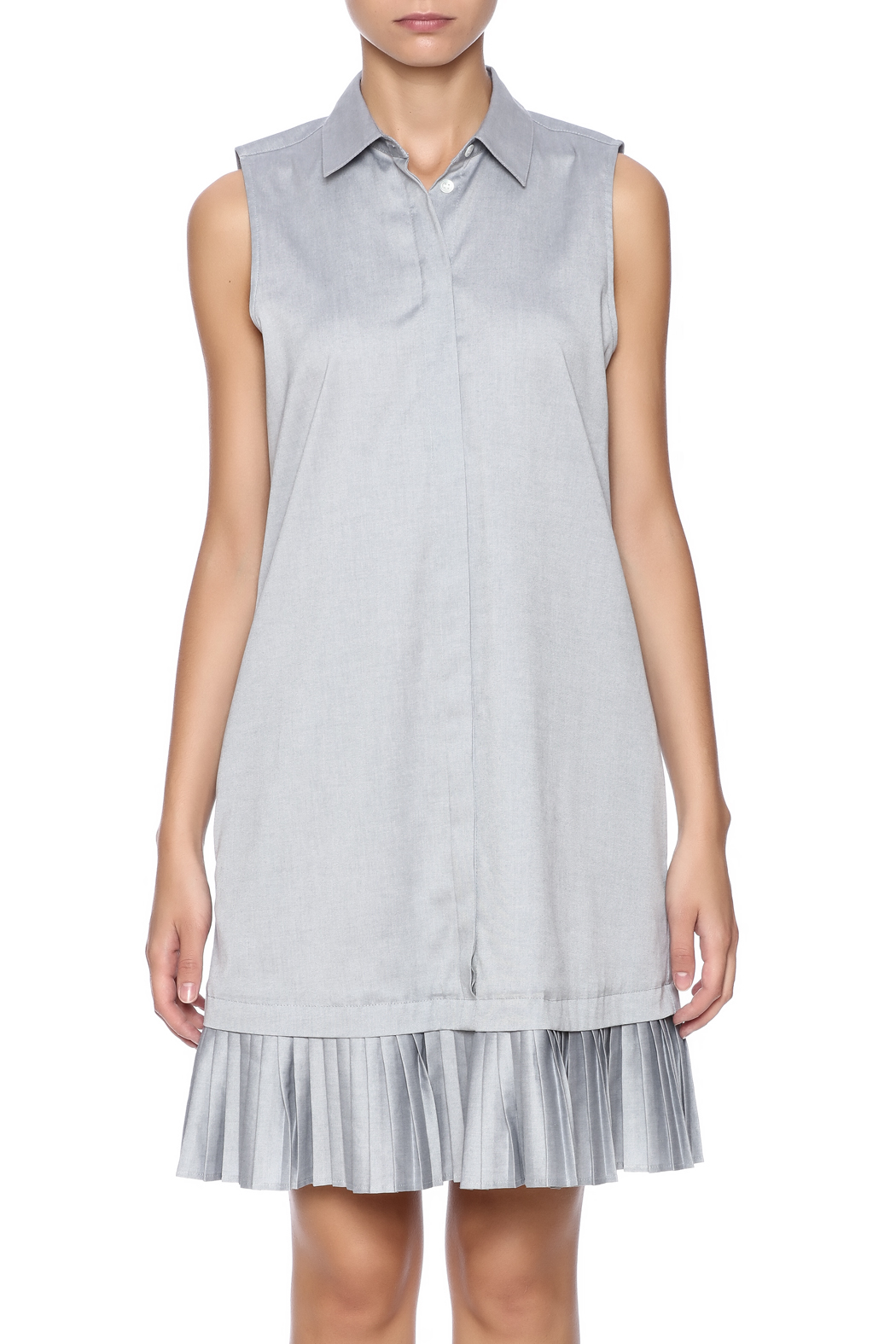 Prose & Poetry Pleat Shirt Dress - Side Cropped Image