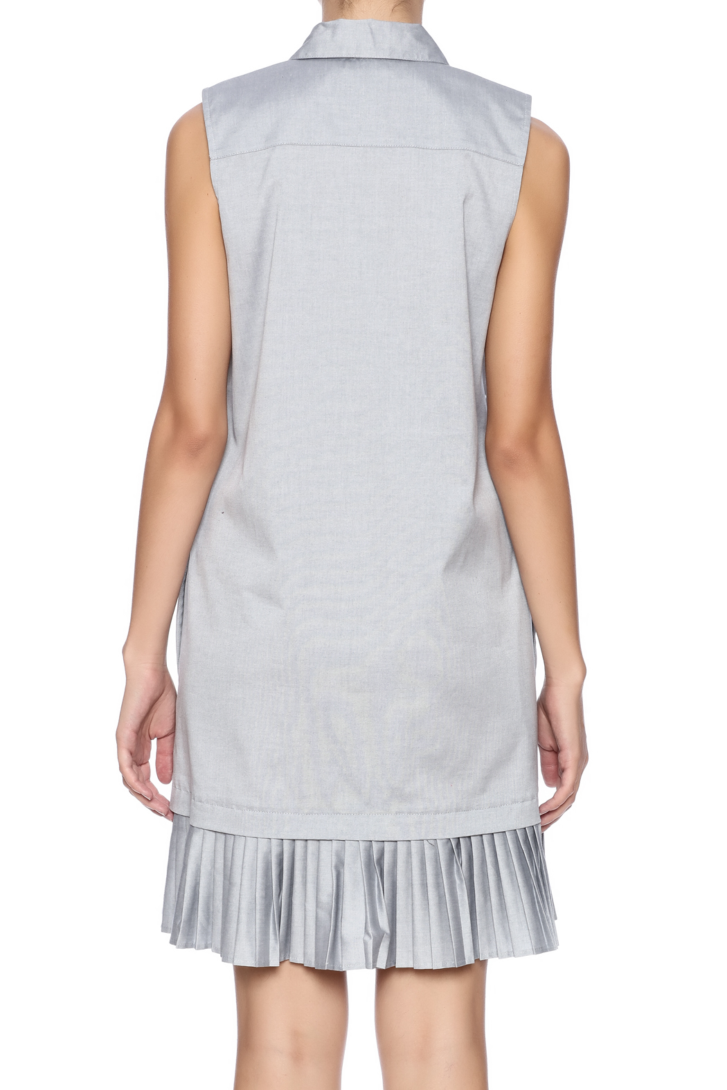 Prose & Poetry Pleat Shirt Dress - Back Cropped Image