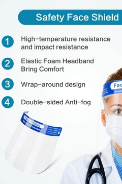 T & Tim Protective Isolation Safety Face Shield Anti-Fog Visor Pack of 3 Shield - Alternate List Image