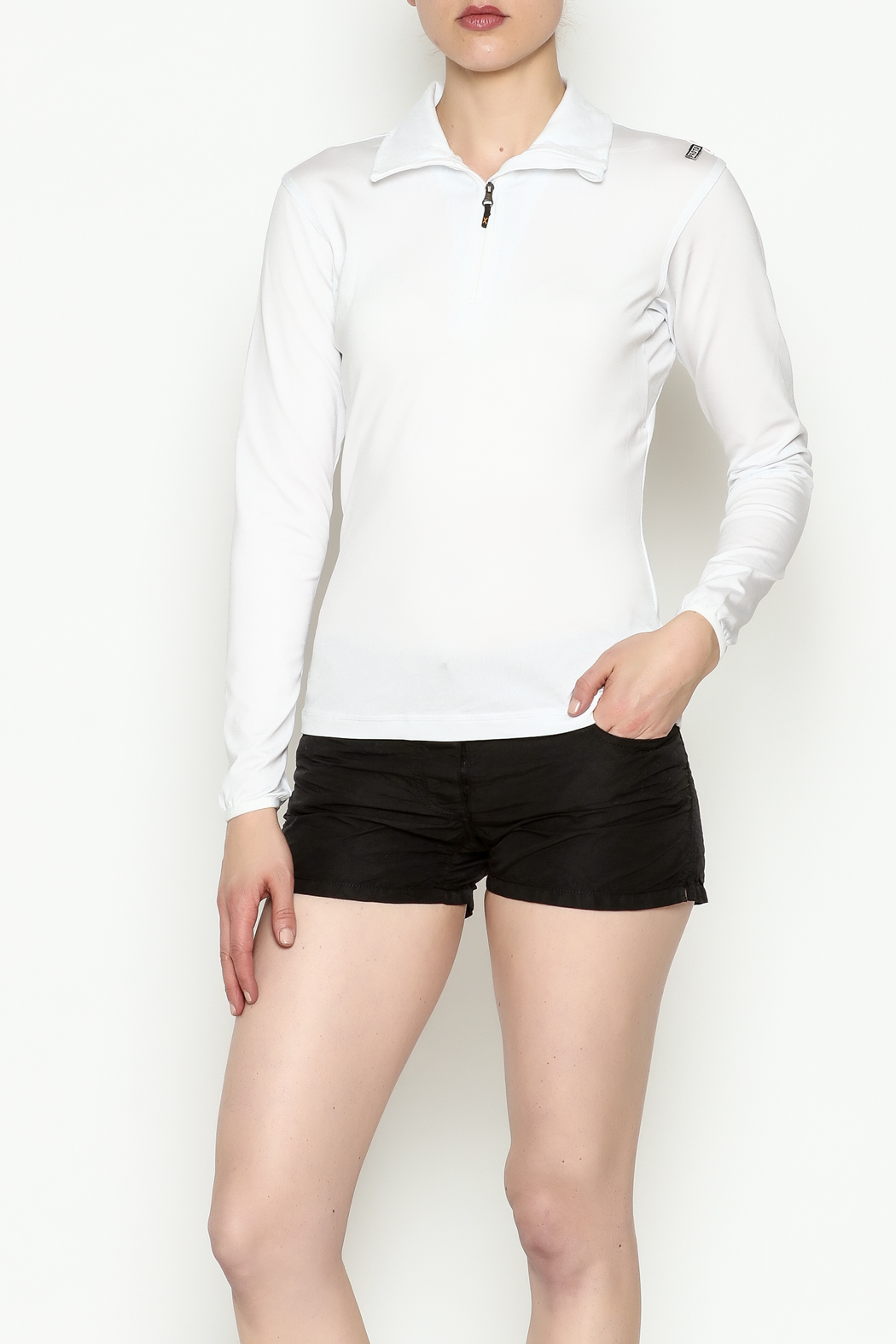 PROTOXTYPE Zippered Long Sleeve Top - Front Cropped Image