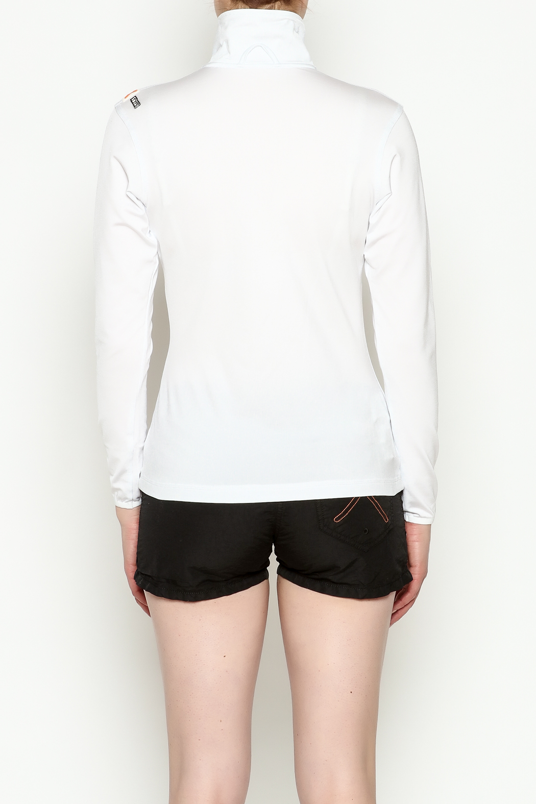 PROTOXTYPE Zippered Long Sleeve Top - Back Cropped Image