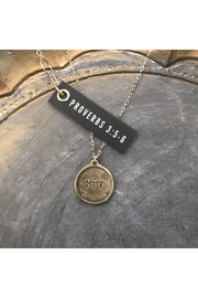 MADISON STERLING JEWELRY PROVERBS 3:56 PENDANT NECKLACE - Front cropped
